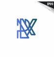 initial rk logo monogram design template simple vector image vector image