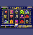 interface slot machine complete menu of vector image vector image