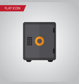 isolated safe flat icon strongbox element vector image