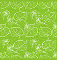 linden leaves seamless vector image