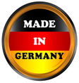 Made in germany icon vector image
