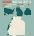 map quitman county in georgia vector image vector image