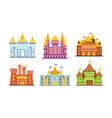medieval castles set for design and web vector image