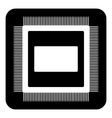 Microchip symbol button vector image