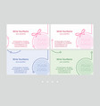 minimalistic business card templates universal vector image vector image