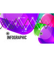 modern geometric presentation background vector image