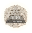 Natural materials banner vector image