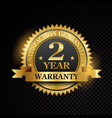 one year warranty satisfaction guaranteed vector image vector image