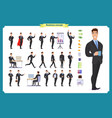 people character business setbusinessman vector image vector image