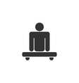 Pictogram of Amputee in Wheelchair vector image vector image