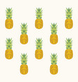 pineaaple pattern vector image