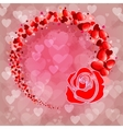 Pink background with silhouette of rose vector image vector image