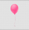 realistic pink balloon vector image vector image