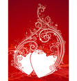 Red Valentines background vector image