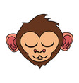 relaxed or in bliss cute expressive monkey cartoon vector image