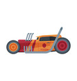 retro style race car old sports hot rod vector image