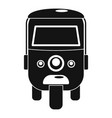 rickshaw icon simple style vector image