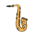 saxophone music instrument vector image