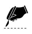 scalpel skin incision glyph icon vector image vector image