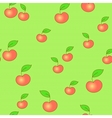 Seamless apple background vector image