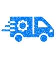 Service Car Grainy Texture Icon vector image