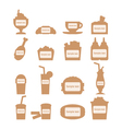 set of fast food icons with place for sample text vector image vector image