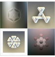 Set of unreal impossible geometric figures vector image