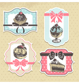 set vintage bakery labels vector image