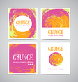 set watercolor business cards template and vector image vector image