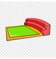 small square stadium icon cartoon style vector image vector image