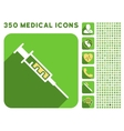 Syringe Icon and Medical Longshadow Icon Set vector image vector image