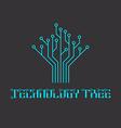 technology tree microcircuit engineering vector image