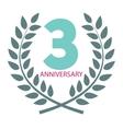 Template Logo 3 Anniversary in Laurel Wreath vector image
