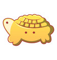 turtle biscuit icon cartoon style vector image vector image