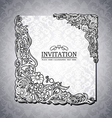Vintage background antique victorian ornament vector image