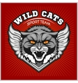Wild cat head - design for logo and sport emblem vector image vector image