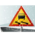 Winter road sign vector image