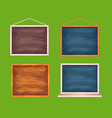 Wooden desks for game interface vector image vector image