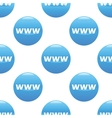 WWW sign pattern vector image vector image