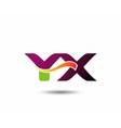 YX Logo vector image vector image