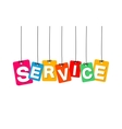 colorful hanging cardboard Tags - service vector image