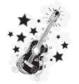 abstract guitar sketchy vector image