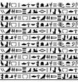 Ancient egyptian seamless horizontal vector image