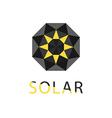 Abstract symbol of sun solar technology logo vector image