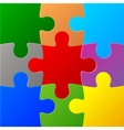Colored Puzzles vector image