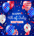 4th july independence day design vector image