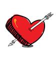 arrow pierced the heart vector image