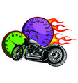 artistic stylized motorcycle racer in motion vector image vector image