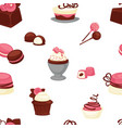 bakery and cakes baked culinary products seamless vector image
