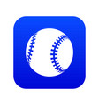 baseball icon blue vector image vector image